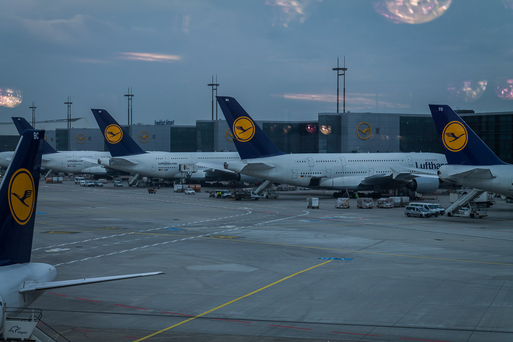 Frankfurt – tři A380 vedle sebe