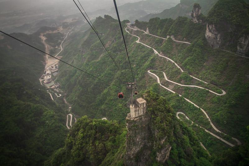 Lanovka na Tianmen mountain